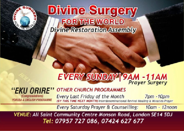 divine surgery for the world schedule